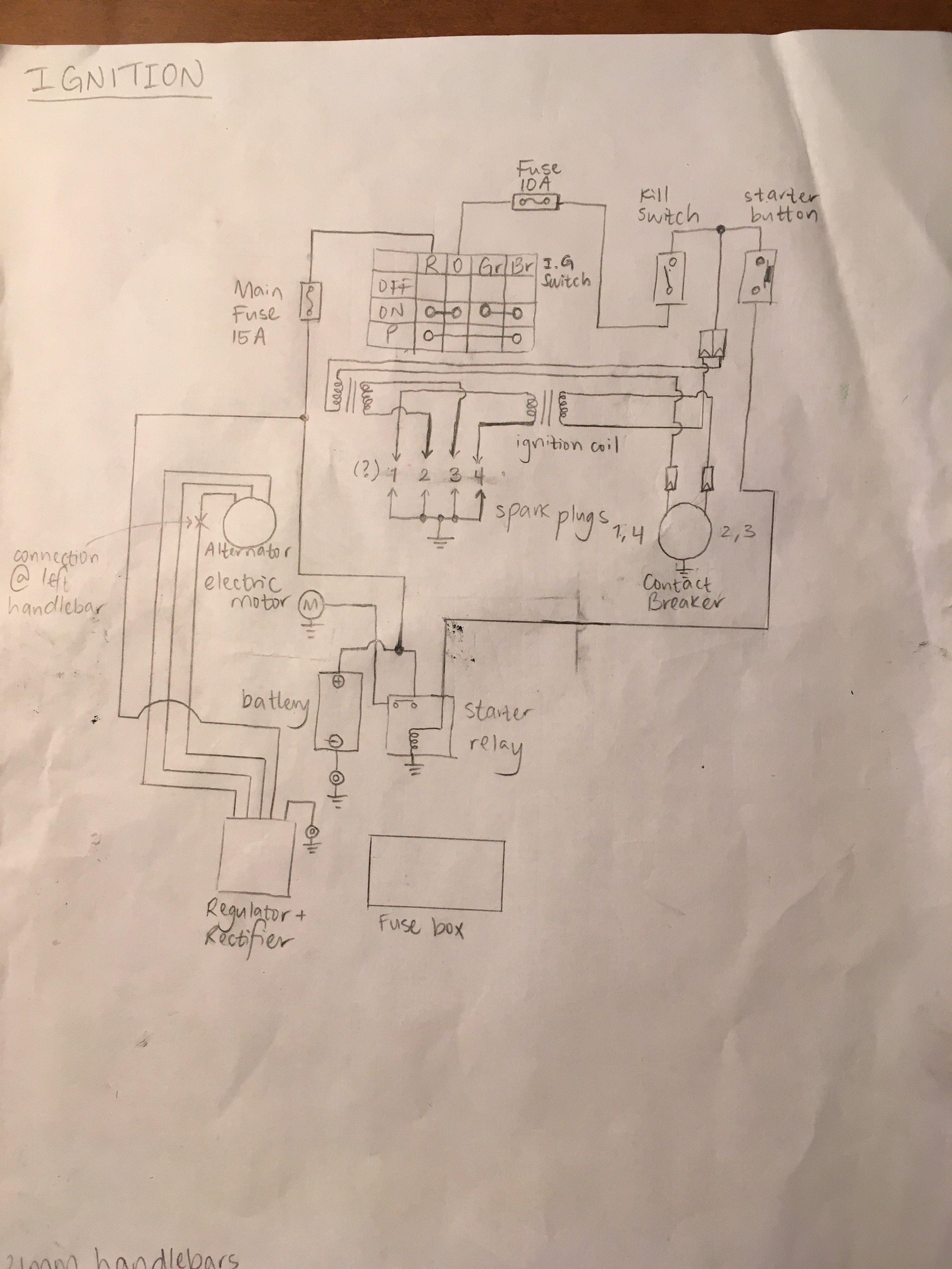 1978 Suzuki Gs750 Wiring Inquiry Cafe Racer Forum