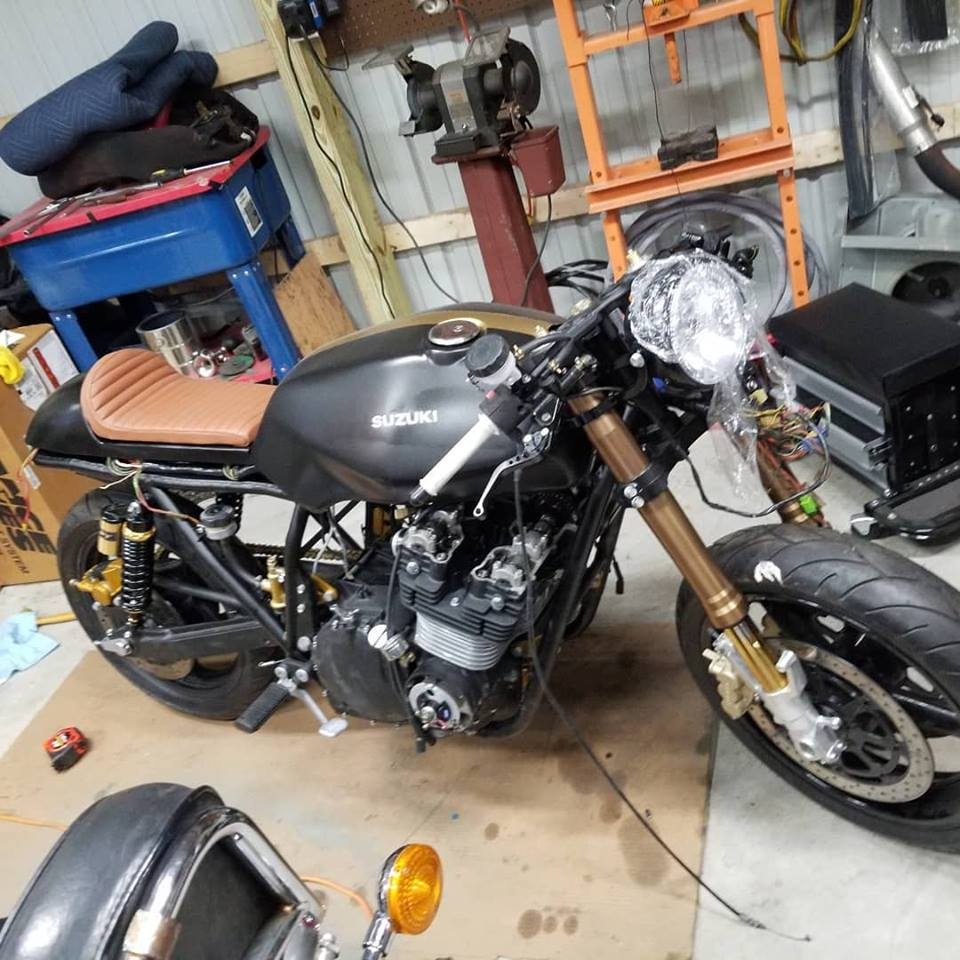 1982 GS1100 being brought back to life