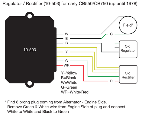 15103d1435703682 motogadget m unit ricks regulator rectifier help cb550 motogadget m unit & ricks regulator rectifier help 5 wire rectifier diagram at gsmx.co