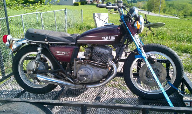 74 Yamaha Tx750 Running Stock Survivor