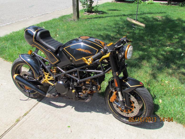 99 ducati monster 750 cafe racer cafe fighter. Black Bedroom Furniture Sets. Home Design Ideas