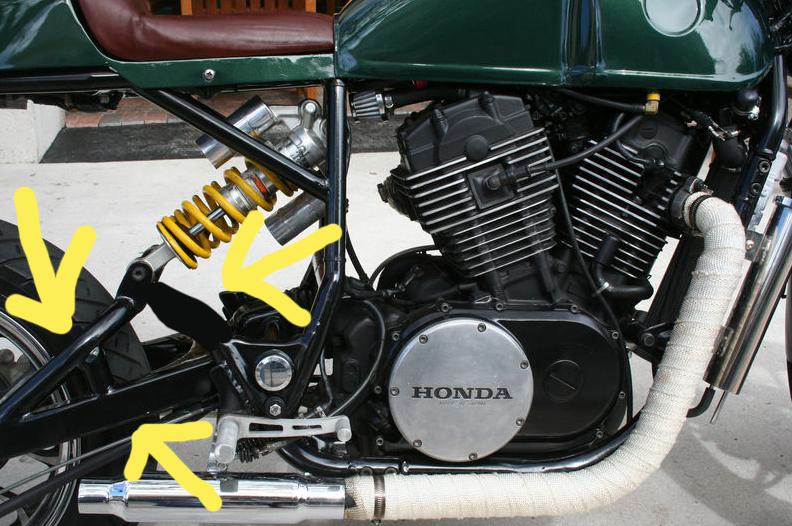 9258d1409704433 1984 honda shadow vt700c cafe racer mono shock support 2 1984 honda shadow vt700c cafe racer 08 Honda Shadow at virtualis.co