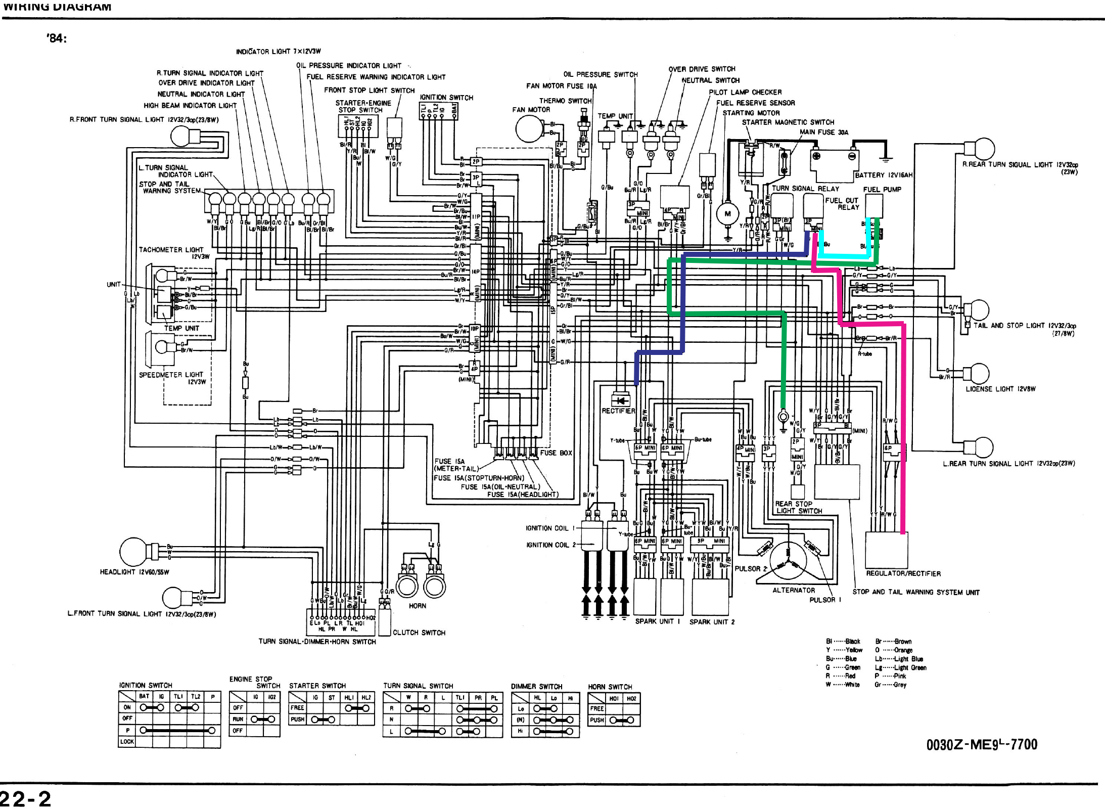 Honda Vt700 Wiring Diagrams Blog Diagram 1985 Goldwing 1986 Shadow Vt700c Electrical Civic Stereo Vt1100c