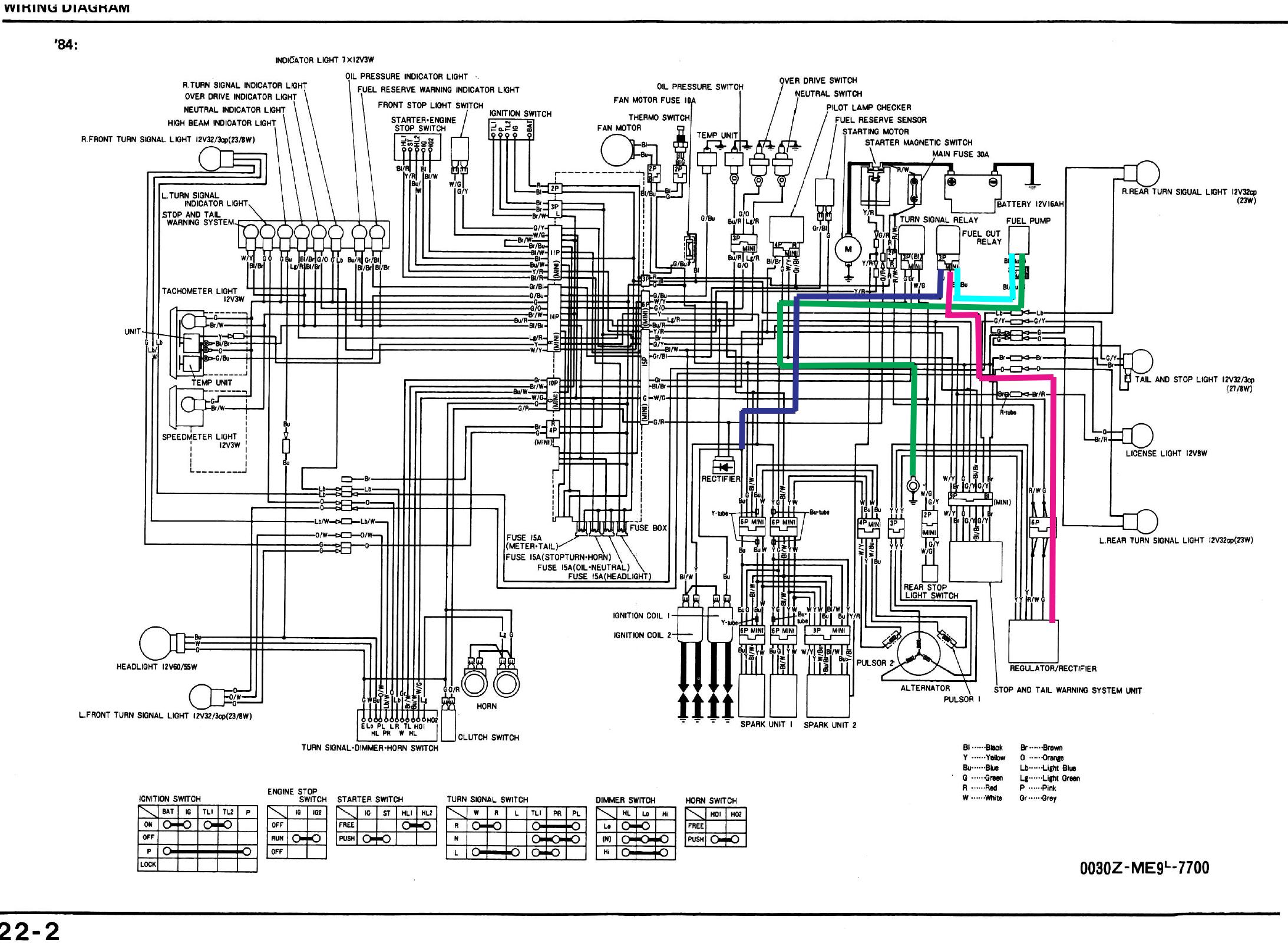 1984 honda shadow 700 wiring diagram 4k wallpapers design rh wikidesign us Honda Motorcycles Schematics Honda 750 Spirit Modifications