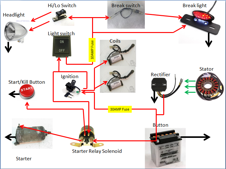 82 GS450 Simplified Wiring Diagram | Cafe Racer Forum