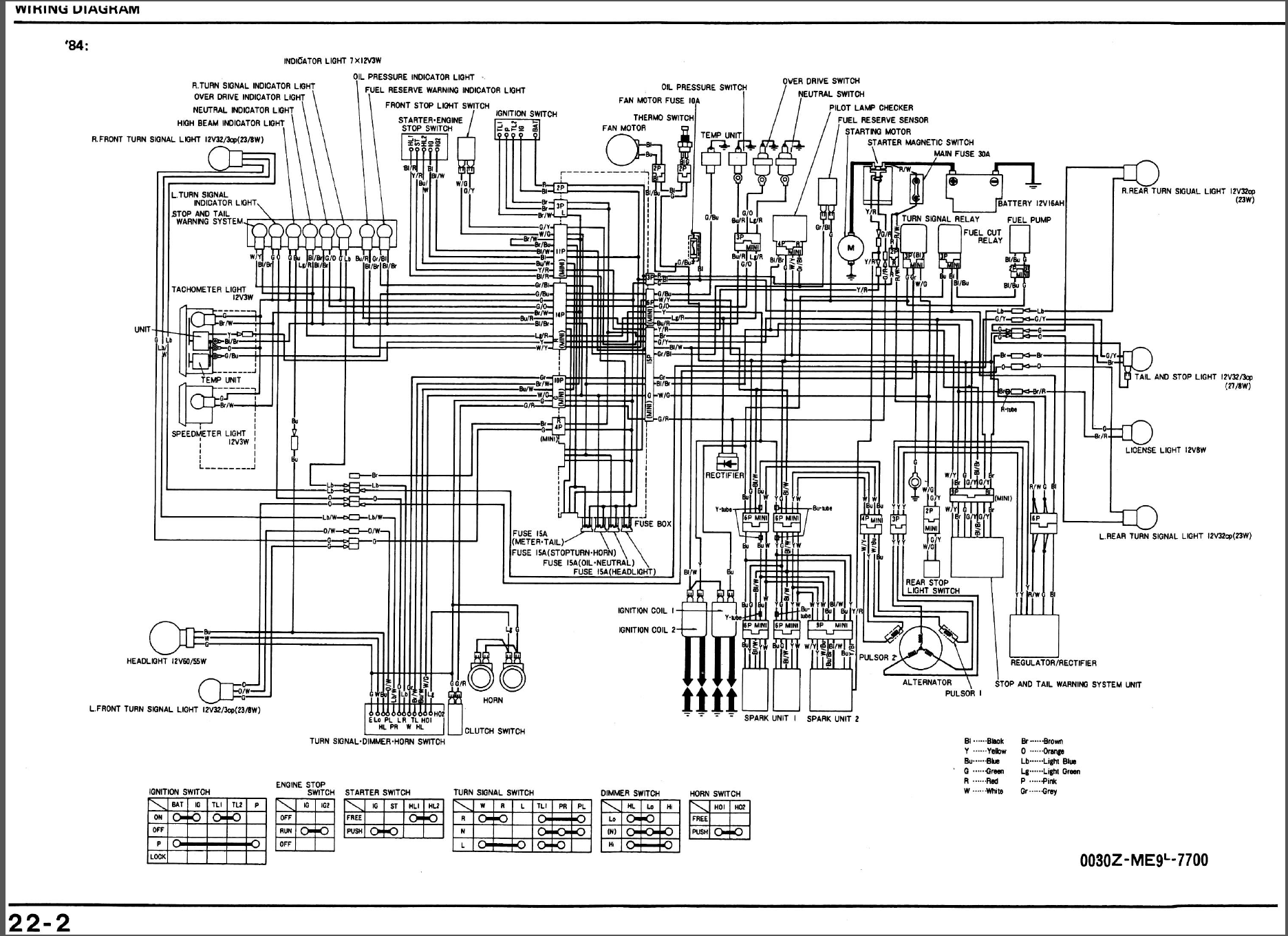 Honda Shadow Vt750 Wiring Diagram And Schematics 2000 1984 700 Rh Caferacer Net 1985 Vt700