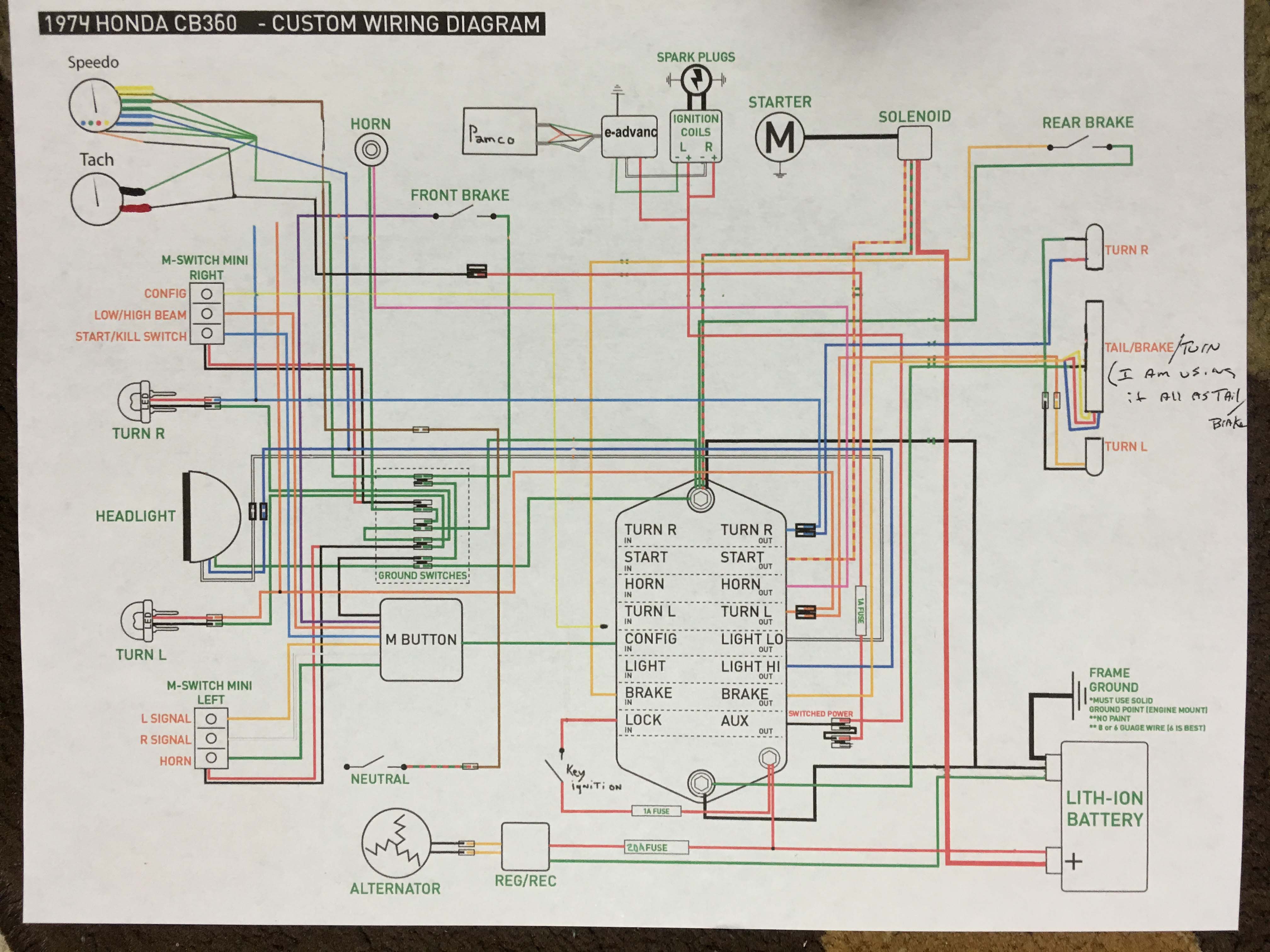 bad boy wiring diagram 2012 honda cb360 custom wiring cafe racer forum  honda cb360 custom wiring cafe racer