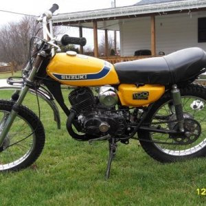 My first bike was a 197? TS100. Bombed all over the mountains around Bozeman MT on one of these (not my actual bike)
