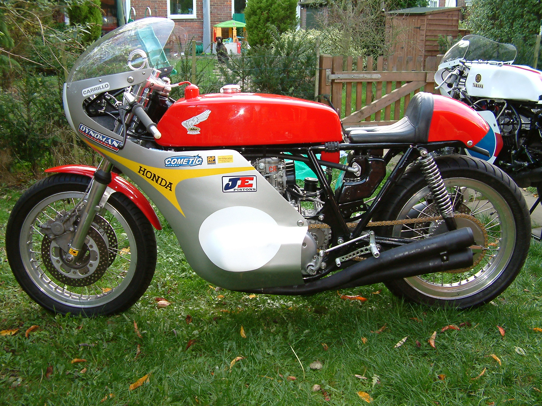 Honda CR750 c 1976, Marzocchi forks, Scarab hubs, very special and very fast.