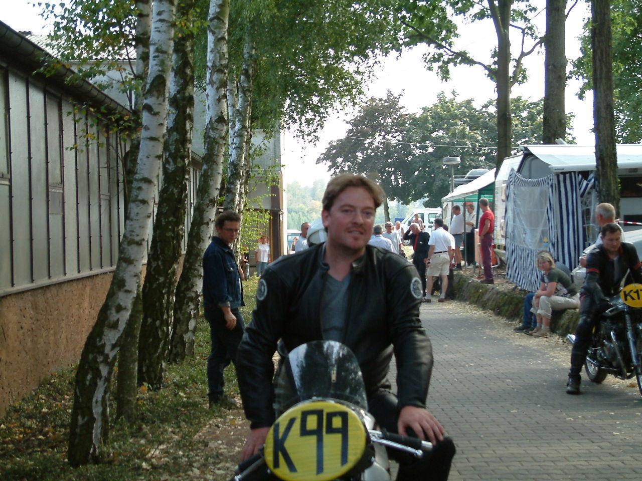 Schotton GP in 2005 on a replica 500cc Manx